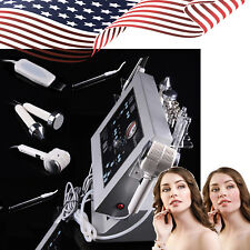 4 in1 Dermabrasion Microdermabrasion Ultrasonic Hot Cold Hammer Head Device USA