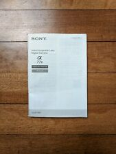 Sony Alpha A77ii Instruction Manual