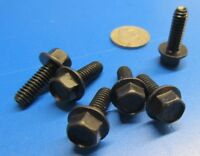 "Flanged Cap Screw Bolt, Black, Steel Grade 8, FT, 1/4""-20 x 3/4"" Length, 100 Pc"