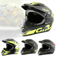 4Couleur Motocross Moto Crash Casque Moto Scooter Masque + Verre + gant BM B7