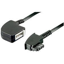 1 Telefonkabel TAE-F,Verlängerung, schwarz, 10 mtr.
