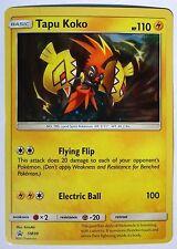 Pokemon Tapu Koko SM30 Black Star Promo Card Holo Rare NM