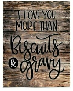 """New """"I love you more than Biscuits & Gravy"""" 50x60 throw Blanket Wrap Super Soft!"""