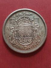 Canada 1957 50 Cent (800 Silver)