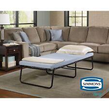 Folding Portable Bed Cot Memory Foam Mattress Guest Room Dorm Kids Adults Sleep