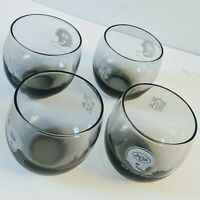 New York Giants NFL 4 Smoked Stemless Tumblers Glasses Vintage Barware Football