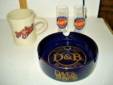 4PC. Dave & Busters Diner Mug Cup,CIGAR ASHTRAY,& 2 SAN ANTONIO SHOT GLASSES N