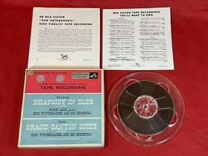 1/2-Track Mono 7.5 ips Open Reel Tape GERSHWIN Rhapsody In Blue GROFE - RCA TB-3