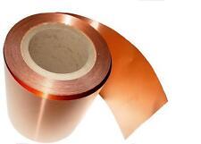 "Copper Sheet 10 mil/ 30 gauge tooling metal roll 6"" X 108' CU110 ASTM B-152"