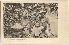 Singapore Native Cake Seller c.1905 UB postcard