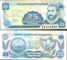 NICARAGUA billet neuf de 25 CENTAVOS Pick170  F.H.CORDOBA petit format 1991