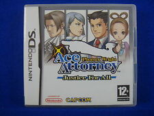ds ACE ATTORNEY Phoenix Wright JUSTICE FOR ALL Game Lite DSI 3DS Nintendo PAL