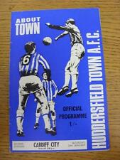 24/01/1970 Huddersfield Town v Cardiff City  (Light Crease). Item in very good c