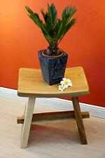 Wooden Stool Solid Wood Seat Japan Teakwood Garden Chair Antique