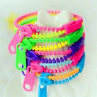 10pcs Zipper Bracelet Fidget Toy Kids Children Sensory Focus Toys Stress Relief