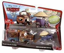 Disney**Pixar CARS 2_Race Team MATER_Zen Master PITTY Die-Casts_Exclusive 2 Pack