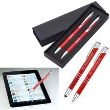 Kugelschreiber Druckbleistift 4x Metall Schreibset 4 verschiedene Farben