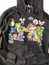 Super Mario black vintage zip up sweatshirt hoodie Size M