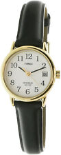 Timex Women's Easy Reader T2H341 Black Leather Quartz Dress Watch