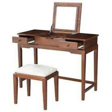 International Concepts K-Be581-2-Dt-2 Vanity table with vanity bench Espresso Ne