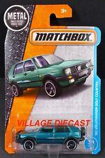 2017 Matchbox #4 '90 VW Golf Country MONTANA GREEN/NEW CAR ART/2 TRUNK ITEMS/MOC