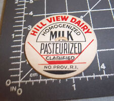 Milk Bottle Cap from Hill View Dairy, No. Providence Rhode Island, Homogenized