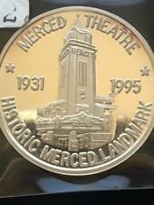 1995 Merced Theatre Historic Landmark Silver 1oz. by Gateway Coin Club,22 of 100