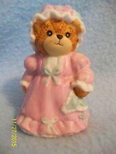 "Lucy & Me Mama in Pink Nightgown Bear 2 1/2"" Figurine 1987 ~ CUTE! LQQK here >>"