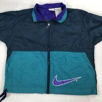 VTG Nike Jacket Windbreaker Flight Air 90s Swoosh Agassi Jordan Boys L (7)