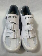 Shimano Bike Cleats Women's Size US 8.5 EUR 41 White Silver Leather SH-RP300-W-W