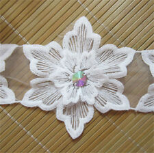 Wholesale 13yards/lot 11cm Ivory Embroidered Lace Edge Trim Ribbon Sewing Craft