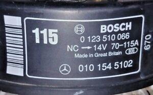 BOSCH ALTERNATOR FOR MERCEDES C230 C 230 2.3L GENERATOR 115Amp 1 YR WARRANTY OEM