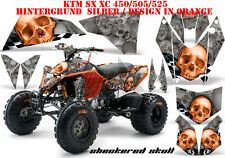 AMR Racing DECORO GRAPHIC KIT ATV KTM 450 505 525 SX XC CHECKERED SKULL B