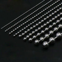 1.5mm-10mm Bead 304 Stainless Steel Ball Necklace Chain Silver Sold By Meters