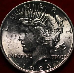 Uncirculated 1924 Philadelphia Mint Silver Peace Dollar
