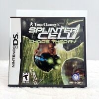 Tom Clancys Splinter Cell Chaos Theory Nintendo DS Complete Free Shipping