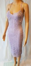 Jane Norman Lilac Lace Bodycon Dress - SIZE 6 - RRP: £25