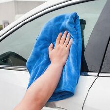 Cleaning Blue Microfiber Auto SUV Soft Absorbent Towel 30 x 70cm Wash Wipe Cloth