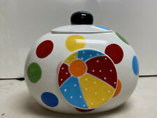 "Coton Colors Happy Everything Cookie Jar Bright Dot Multi-Color Mini 7.5"" x 9"""
