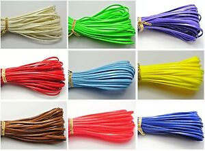 10 Meter Soft Faux Leather Flat Lace Trim String Jewelry Cord 2.5mm Color Choice