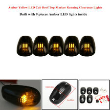 5xAmber 9LED Cab Roof Top Marker Running Light Truck SUV Pickup w/Switch Control