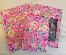 NEW WORLD TRANSLATION BIBLE COVER SET, PINK FLOWERS, Jehovah's Witnesses