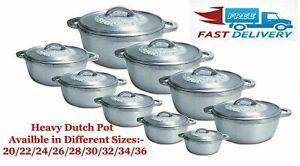 Jamaican Caribbean Dutch Pot Casserole Oven Heavy Duty Dutchie Many Sizes & Sets