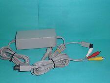 Original Nintendo Brand Wii & Wiiu AV Cable RVL-009 & Power Adaptor RVL-002