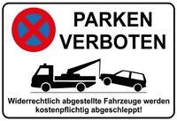 Parken verboten Blechschild Schild gewölbt Metal Tin Sign 20 x 30 cm
