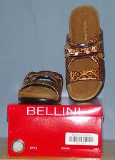 Bellini Fara Bronze Croco embossed Mule Sandal 9.5 M NEW IN BOX