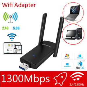 1200Mbps Wireless Adapter Usb  Wifi Internet Dongle 802.11AC For Windows 7 8 10