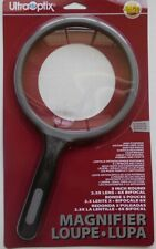 New UltraOptix 5 Inch Round Quality Magnifier 2.5X / 6X Bifocal Coins & Stamps