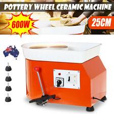 AU 600W 25CM Electric Pottery Wheel Machine Ceramic Work Clay Art Craft Peda