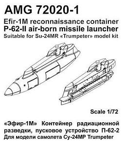 Advanced Modeling 1/72 Efir-1M Container, P-62-ll Launcher - AMG72020-1